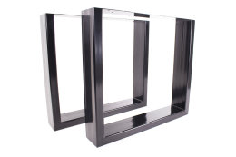 AKTION! Tischgestell Stahl TUGs-150x50 schwarz pulverbeschichtet Tischuntergestell Kufengestell Loft Industriedesign massiv Design Tisch