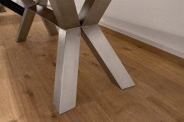 Kreuzgestell Edelstahl V2A Raute 100x100 L1440 Tischgestell Küchentisch Esstisch Tischuntergestell X-Gestell