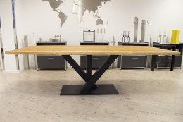 Kreuzgestell Stahl schwarz matt Venedig L1200 Tischgestell Küchentisch Esstisch Tischuntergestell X-Gestell