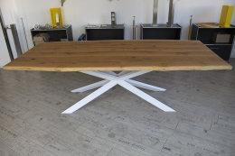 Kreuzgestell Stahl weiß matt GX80x40 L1600 Spider Esstisch Tischgestell Wohnzimmer Tisch Küchentisch