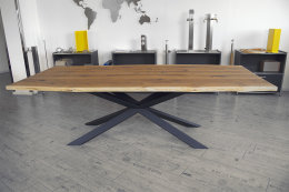 Kreuzgestell Stahl schwarz matt GX80x40 L1600...