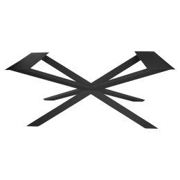 Kreuzgestell Stahl schwarz matt GX80x40 L1600 Tischgestell Küchentisch Esstisch Tischuntergestell X-Gestell