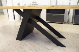 Kreuzgestell Stahl schwarz matt Tokio L1300 Tischgestell...