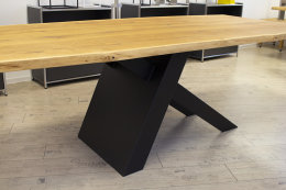 Kreuzgestell Stahl schwarz matt Tokio L1200 Tischgestell Küchentisch Esstisch Tischuntergestell X-Gestell