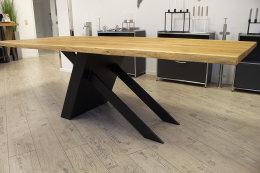 Kreuzgestell Stahl schwarz matt Tokio L1300 Tischgestell Küchentisch Esstisch Tischuntergestell X-Gestell