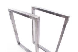 Tischgestell Rohstahl TRGk-700 breit Tischuntergestell Tischkufe Kufengestell (1 Paar)