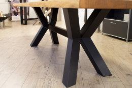 Kreuzgestell Stahl schwarz matt Raute Mittelsteg L1440 Tischgestell Küchentisch Esstisch Tischuntergestell X-Gestell