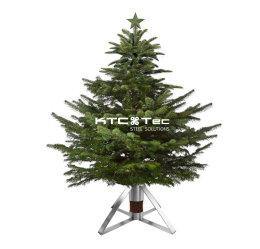 Tannenbaumständer Edelstahl Pyramide quadratische Aufnahme, Christbaumständer Weihnachtsbaumständer Weihnachtsbaum Halter Baumständer (1 Stück)