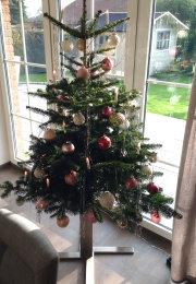 Tannenbaumständer Edelstahl 4-Bein Kreuz, H 400 Christbaumständer Weihnachtsbaumständer Weihnachtsbaum Halter Baumständer (1 Stück)