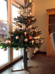Tannenbaumständer Premuim Edelstahl H:400mm Christbaumständer Weihnachtsbaumständer Weihnachtsbaum Halter Baumständer (1 Stück)