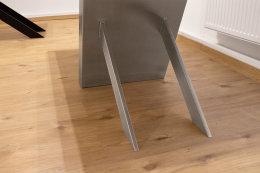 Kreuzgestell Edelstahl V2A Tokio 100x20 L1200 Tischgestell Küchentisch Esstisch Tischuntergestell X-Gestell