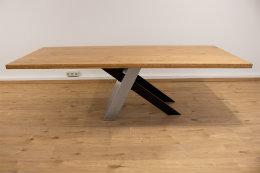 Kreuzgestell V2A Edelstahl & Stahl schwarz matt Tokio L1200 Tischgestell Küchentisch Esstisch Tischuntergestell X-Gestell