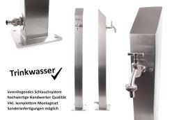 TRINKWASSER Wassersäule TSQS 1030 Edelstahl V2A,...