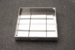 Schachtabdeckung Edelstahl SAP-80/5E Schachtdeckel auspflasterbar 800x800 befliesbar bepflanzbar befüllbar wasserdicht Höhe 50mm