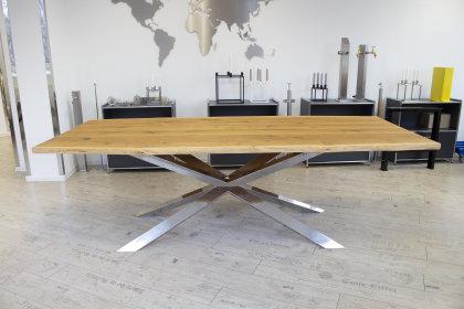 Kreuzgestell Edelstahl GX 80x40 poliert Esstisch Tischgestell Wohnzimmer  Tisch Küchentisch