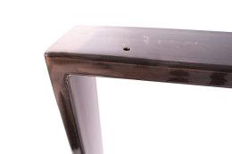 Tischgestell Rohstahl TR80k-600 breit Tischuntergestell Tischkufe Kufengestell (1 Paar)