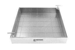 Schachtabdeckung Edelstahl SAP-60/8E Schachtdeckel auspflasterbar 600x600 befliesbar bepflanzbar befüllbar wasserdicht Höhe 80mm