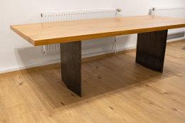 Stahlwange SWR48 Raute Rohstahl unbehandelt Tischgestell Esstisch Schreibtisch Wangen massiv Tischkufen Industrie (1 Paar)