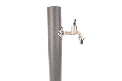 TRINKWASSER Wassersäule TSRG 950 Beton Optik Stein grau, Wasserzapfsäule Wasserzapfstelle Gartenzapfstelle Zapfstelle Zapfsäule Bewässerung Garten Spender, rund