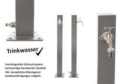 TRINKWASSER Wassersäule TSQG 950 Beton Optik Stein...