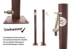TRINKWASSER Wassersäule TSRG 650 Rost Optik braun,...