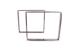 Tischgestell Rohstahl TR80k-700 breit Tischuntergestell Tischkufe Kufengestell (1 Paar)