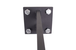 Vordachhalter Anthrazit Grau VL-650 (1 Paar) Schlitz Vordachsystem Vordach Vordachträger Stahlvordach Glasvordach Türvordach Haustür Halter