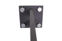 Vordachhalter Anthrazit Grau VL-850 (1 Paar) Schlitz Vordachsystem Vordach Vordachträger Stahlvordach Glasvordach Türvordach Haustür Halter