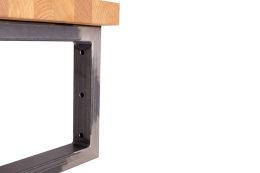 Waschbecken Konsole Rohstahl Träger 50x30 mm H 150-300/ B 300-450 Waschtisch Wandkonsole Industriedesign Vintage Stahl schwarz Regalhalter Konsolenhalterung Gestell (1 Paar)