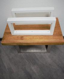 Waschbecken Konsole Stahl weiß matt Träger TRG50x30mm-200/450 Waschtisch Wandkonsole Industriedesign Vintage Regalhalter Konsolenhalterung Gestell (1 Paar)