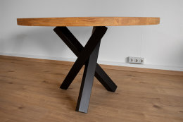 Tischgestell Stahl schwarz matt Tres 80x80 L600 für...