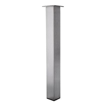 Tischbein Edelstahl TB4 Quadratrohr 100x100mm Tischgestell Tischfuß Tischkufen Wohnzimmertisch Esstisch Esszimmertisch 10x10cm