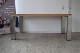 Tischbein Edelstahl TBE Quadratrohr TBE4 100x100mm eingelassen Tischgestell Tischfuß Tischkufen versenkt Wohnzimmertisch Esstisch Esszimmertisch