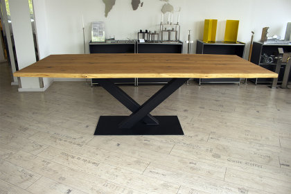 Kreuzgestell Stahl schwarz matt Paris L1400 Tischgestell Küchentisch Esstisch Tischuntergestell X-Gestell