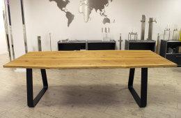 Tischgestell Stahl schwarz matt Struktur TGF 100x10 sms...