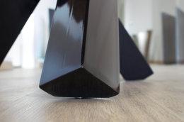 Tischgestell Stahl schwarz glanz Tres Design einteilig Kreuzgestell (Holztisch)