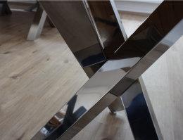Tischgestell Edelstahl poliert Tres Design einteilig...