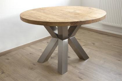 Tischgestell Rund.Kreuzgestell Edelstahl Raute Ohne Mittelsteg Tischgestell Rund Küchentisch Esstisch Tischuntergestell X Gestell Einteilig
