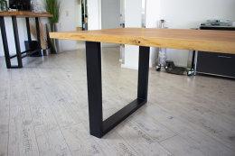 Tischgestell Stahl TU 100x40 10x4 Metall schwarz matt...