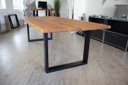Tischgestell Stahl TU 100x40 10x4 Metall schwarz matt Tischuntergestell Tischkufe Kufengestell Tischbeine Tischfuß Industriedesign Esstisch Schreibtisch