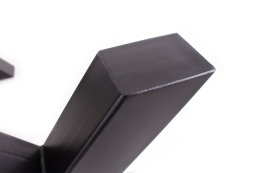 Bankgestell Stahl TUX 80x80 sms-420/400 42x40 cm schwarz matt Bankuntergestell Bankkufen Kufengestell Sitzbank Bank (1 Paar)