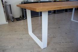 Tischgestell Stahl weiß matt TGF 100x10 wms 600-900...