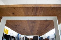 Tischgestell Stahl weiß matt TGF 100x10 wms 600-900 rund gebogen Untergestell Kufen Tischuntergestell Tischkufe Design Tisch Esstisch