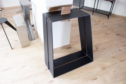 Tischbeine Tischkufen Tischuntergestell Kufengestell Tischgestell Anthrazit Paar