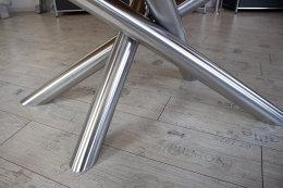 Kreuzgestell Edelstahl V2A MIRONDO Ø80 L1400 Tischgestell Küchentisch Esstisch Tischuntergestell X-Gestell