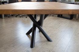 Kreuzgestell Stahl schwarz matt MIRONDO 80 L1400 Tischgestell Küchentisch Esstisch Tischuntergestell X-Gestell