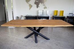 Kreuzgestell Stahl schwarz matt MIRONDO 90 L1400 Tischgestell Küchentisch Esstisch Tischuntergestell X-Gestell