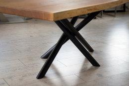 Kreuzgestell Stahl schwarz matt MIRONDO 60 L1400 Tischgestell Küchentisch Esstisch Tischuntergestell X-Gestell