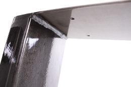 Tischgestell Rohstahl TU100k-600 breit Tischuntergestell Tischkufe Kufengestell (1 Paar)