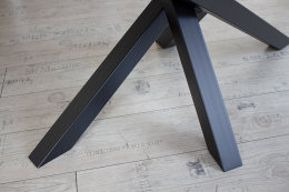 Kreuzgestell Stahl schwarz matt MI-KADO 60x60 L1400 Tischgestell Küchentisch Esstisch Tischuntergestell X-Gestell